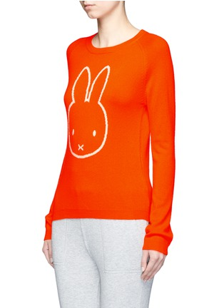 Front View - Click To Enlarge - Chinti And Parker - x Miffy 'Miffy Face' cashmere sweater