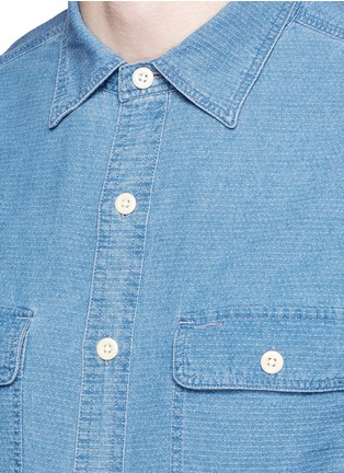 Detail View - Click To Enlarge - Alex Mill - 'Dobby Roadhouse' stitch chambray shirt