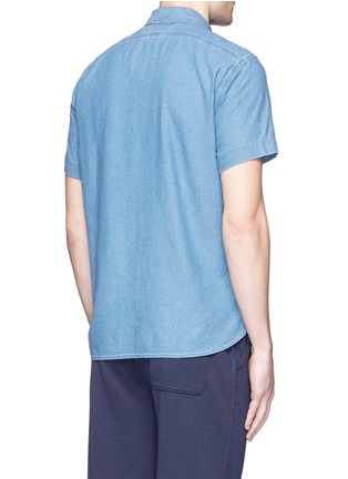 Back View - Click To Enlarge - Alex Mill - 'Dobby Roadhouse' stitch chambray shirt