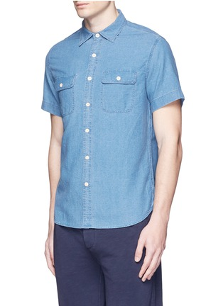 Front View - Click To Enlarge - Alex Mill - 'Dobby Roadhouse' stitch chambray shirt