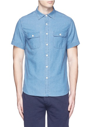 Main View - Click To Enlarge - Alex Mill - 'Dobby Roadhouse' stitch chambray shirt