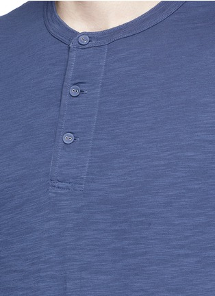 Detail View - Click To Enlarge - Alex Mill - Garment dyed cotton slub Henley shirt
