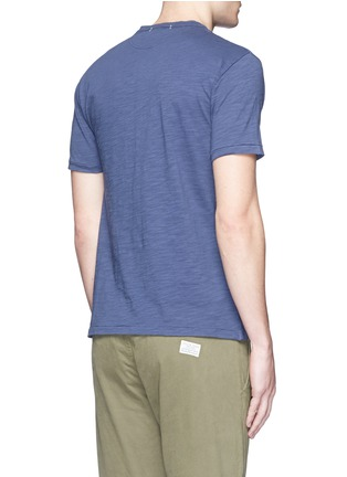 Back View - Click To Enlarge - Alex Mill - Garment dyed cotton slub Henley shirt