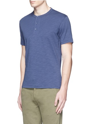 Front View - Click To Enlarge - Alex Mill - Garment dyed cotton slub Henley shirt