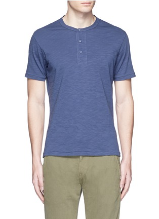 Main View - Click To Enlarge - Alex Mill - Garment dyed cotton slub Henley shirt