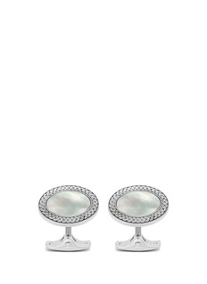 Deakin & Francis  Mother of pearl oval cufflinks