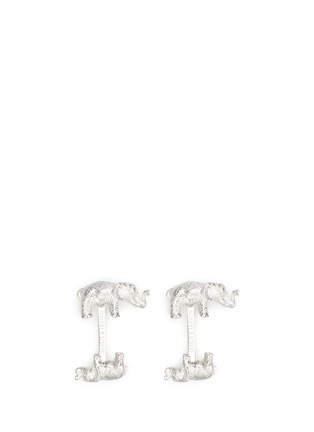 Main View - Click To Enlarge - Deakin & Francis  - Big and small elephant cufflinks