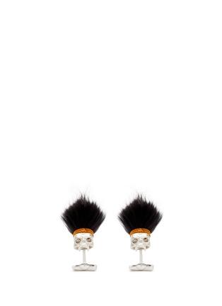 Main View - Click To Enlarge - Deakin & Francis  - Mohawk skull cufflinks