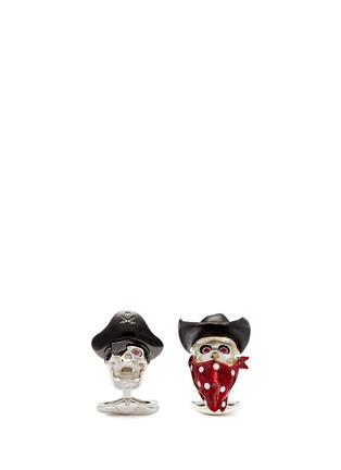 Figure View - Click To Enlarge - Deakin & Francis  - Asymmetric pirate and cowboy cufflinks
