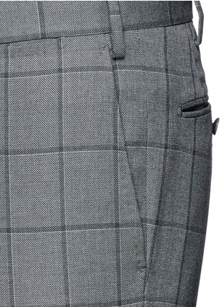 Detail View - Click To Enlarge - Tomorrowland - Slim fit Fratelli Tallia di Delfino® windowpane check wool pants