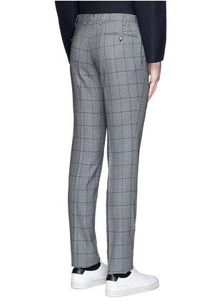 Back View - Click To Enlarge - Tomorrowland - Slim fit Fratelli Tallia di Delfino® windowpane check wool pants