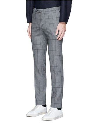 Front View - Click To Enlarge - Tomorrowland - Slim fit Fratelli Tallia di Delfino® windowpane check wool pants