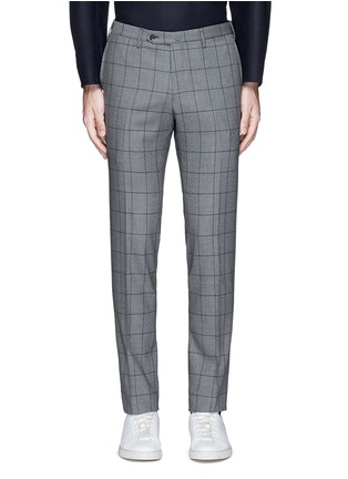 Main View - Click To Enlarge - Tomorrowland - Slim fit Fratelli Tallia di Delfino® windowpane check wool pants