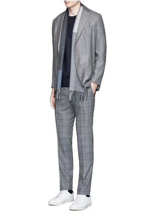 Figure View - Click To Enlarge - Tomorrowland - Slim fit Fratelli Tallia di Delfino® windowpane check wool pants