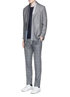 TomorrowlandSlim fit Fratelli Tallia di Delfino® windowpane check wool pants
