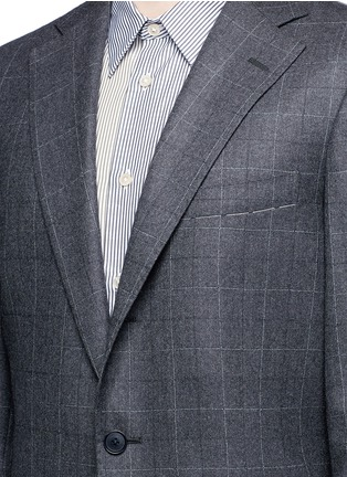 Detail View - Click To Enlarge - Tomorrowland - Dormeuil® wool windowpane check blazer