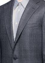 Dormeuil® wool windowpane check blazer