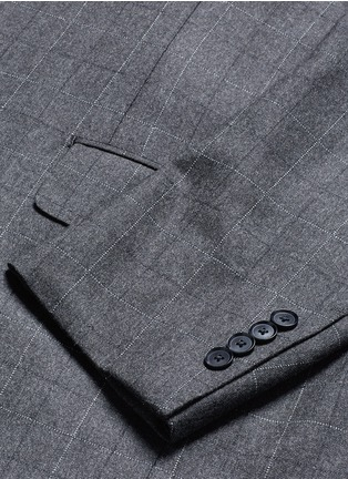 - Tomorrowland - Dormeuil® wool windowpane check blazer