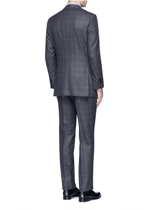 Back View - Click To Enlarge - Tomorrowland - Dormeuil® wool windowpane check blazer