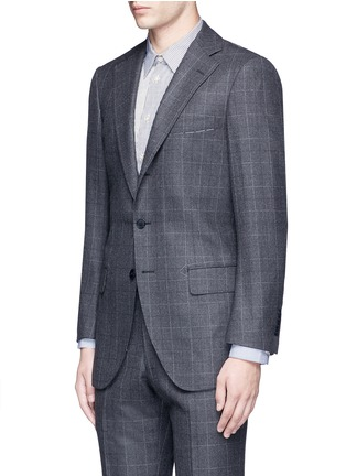 Front View - Click To Enlarge - Tomorrowland - Dormeuil® wool windowpane check blazer
