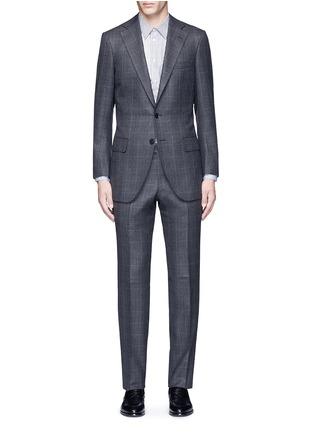 Main View - Click To Enlarge - Tomorrowland - Dormeuil® wool windowpane check blazer
