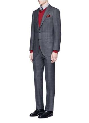 Figure View - Click To Enlarge - Tomorrowland - Dormeuil® wool windowpane check blazer