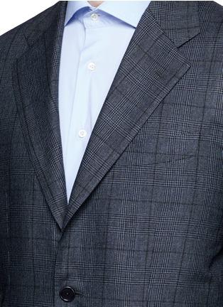 细节 - 点击放大 - TOMORROWLAND - 格纹真丝西服套装