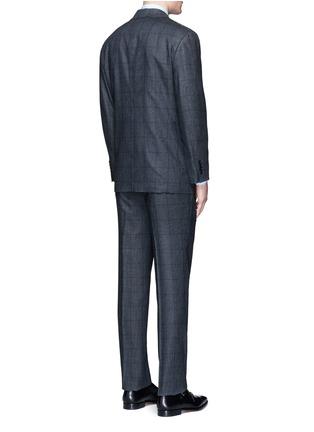 背面 - 点击放大 - TOMORROWLAND - 格纹真丝西服套装