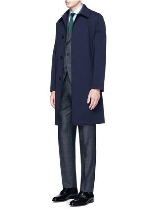 模特儿示范图 - 点击放大 - TOMORROWLAND - 格纹真丝西服套装
