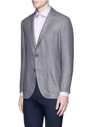 Front View - Click To Enlarge - Tomorrowland - Loro Piana Sunset® silk-cashmere soft blazer