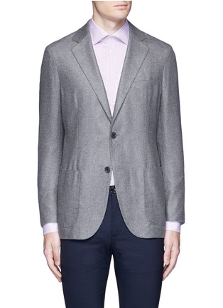 Main View - Click To Enlarge - Tomorrowland - Loro Piana Sunset® silk-cashmere soft blazer