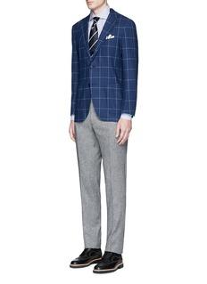TomorrowlandZegna® windowpane check wool-cashmere soft blazer