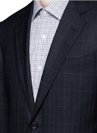 细节 - 点击放大 - TOMORROWLAND - 窗框格纹羊毛西服套装