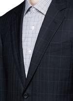 Carlo Barbera® windowpane check wool herringbone suit