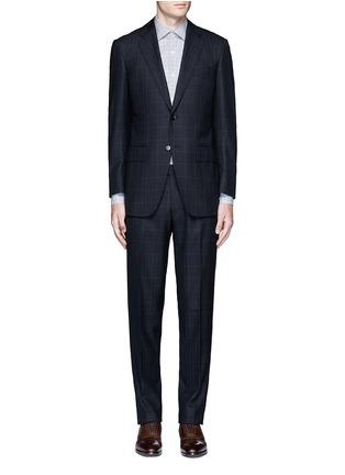 Main View - Click To Enlarge - Tomorrowland - Carlo Barbera® windowpane check wool herringbone suit