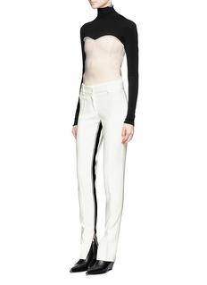 Cédric CharlierSport stripe split cuff pants