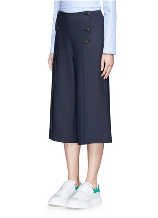 Front View - Click To Enlarge - Cédric Charlier - Anchor button foldover leg culottes