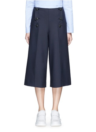 Main View - Click To Enlarge - Cédric Charlier - Anchor button foldover leg culottes