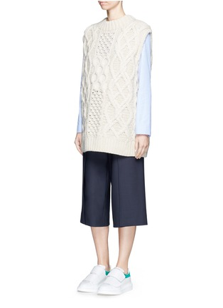 Figure View - Click To Enlarge - Cédric Charlier - Anchor button foldover leg culottes