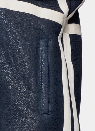 Detail View - Click To Enlarge - Cédric Charlier - Fur collar sheepskin shearling coat