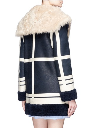 Back View - Click To Enlarge - Cédric Charlier - Fur collar sheepskin shearling coat