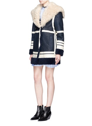 Figure View - Click To Enlarge - Cédric Charlier - Fur collar sheepskin shearling coat
