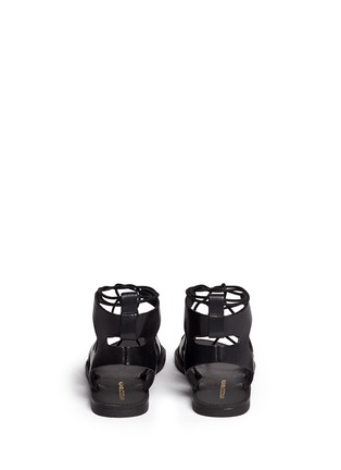 Back View - Click To Enlarge - Windsor Smith - 'Baby' low gladiator calf leather sandals