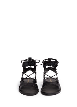 Front View - Click To Enlarge - Windsor Smith - 'Baby' low gladiator calf leather sandals