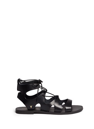 Main View - Click To Enlarge - Windsor Smith - 'Baby' low gladiator calf leather sandals
