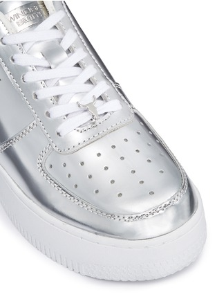 Detail View - Click To Enlarge - Windsor Smith - 'Racerr' mirror leather platform sneakers