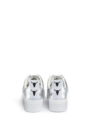 Back View - Click To Enlarge - Windsor Smith - 'Racerr' mirror leather platform sneakers