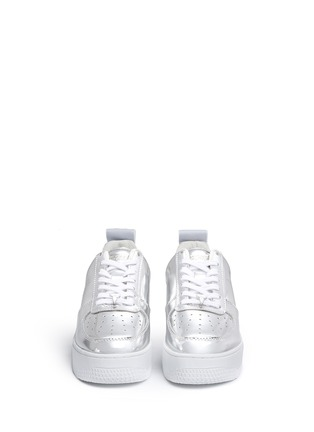 Front View - Click To Enlarge - Windsor Smith - 'Racerr' mirror leather platform sneakers
