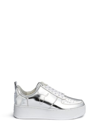 Main View - Click To Enlarge - Windsor Smith - 'Racerr' mirror leather platform sneakers