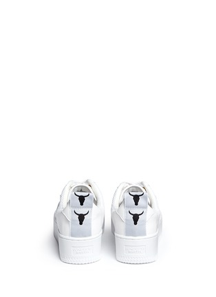 Back View - Click To Enlarge - Windsor Smith - 'Racemesh' logo leather platform sneakers